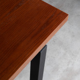 Tavolo da Pranzo Rettangolare in MDF di Legno di Quercia e Metallo (180x90cm) Inset, immagine in miniatura 5
