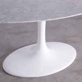 Tavolo da Pranzo Ovale in Marmo e Alluminio (160x100 cm) Uva Freya, immagine in miniatura 6