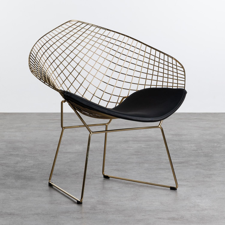 Sedia in Acciaio Amber Golden Edition, immagine della galleria 1