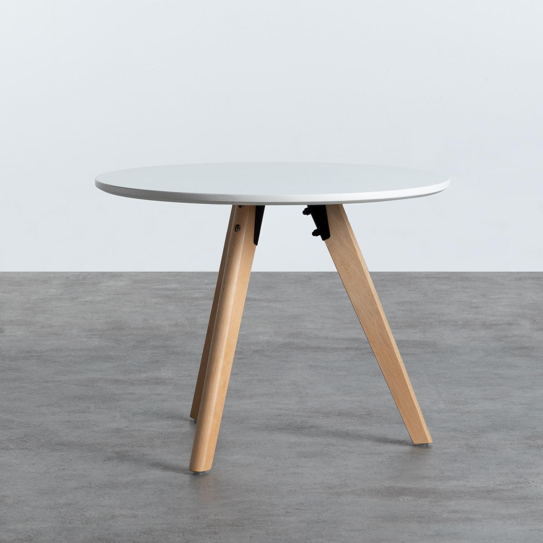 Tavolo Ausiliare Rotondo in MDF (Ø60 cm) Astrid, immagine della galleria 1