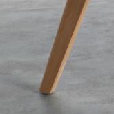 Tavolo Ausiliare Rotondo in MDF (Ø60 cm) Astrid, immagine in miniatura 4