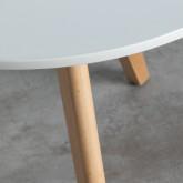 Tavolo Ausiliare Rotondo in MDF (Ø60 cm) Astrid, immagine in miniatura 5
