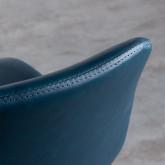 Sgabello Alto in Similpelle e Metallo (61 cm) Linas, immagine in miniatura 6