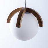 Lampada da soffitto in legno Irisa, immagine in miniatura 4