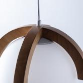 Lampada da soffitto in legno Irisa, immagine in miniatura 5