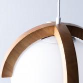 Lampada da soffitto in legno Irisa, immagine in miniatura 6