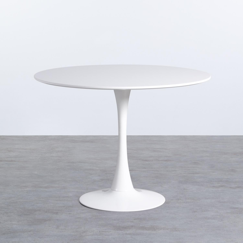 Tavolo da Pranzo Rotondo in MDF e Metallo (Ø100 cm) Chess , immagine della galleria 1