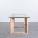 Tavolo da Pranzo Rettangolare in MDF e Cristallo (160x90 cm) Vetro, immagine in miniatura 2