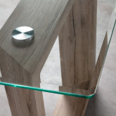 Tavolo da Pranzo Rettangolare in MDF e Cristallo (160x90 cm) Vetro, immagine in miniatura 5