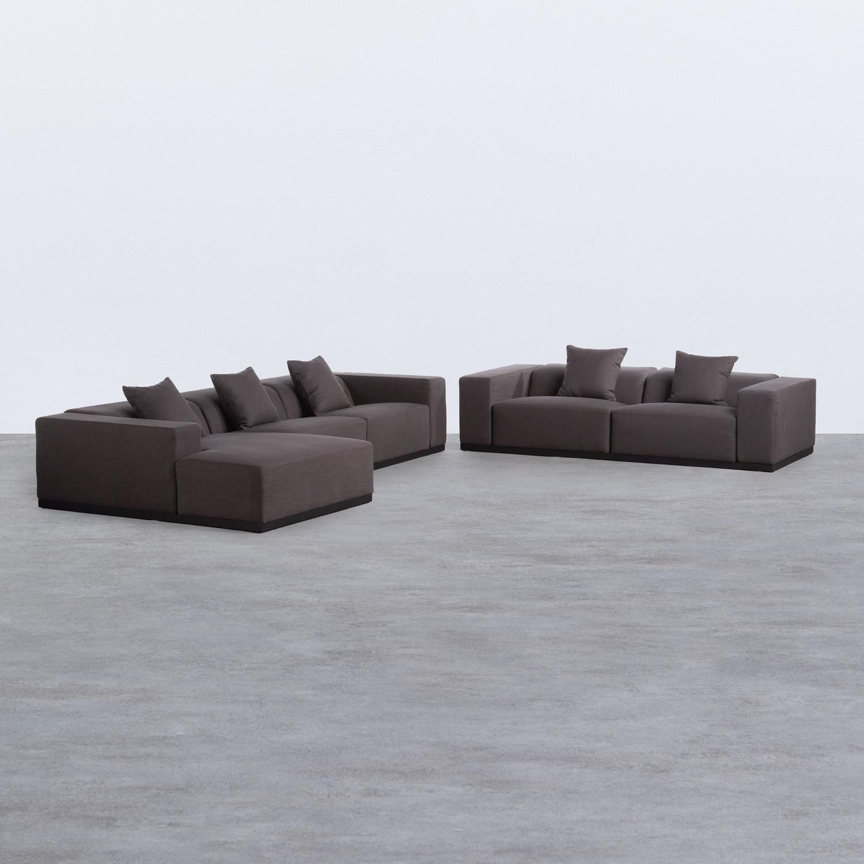 Divano Chaise longue a Destra e Divano 3 posti in Tessuto Temam, immagine della galleria 1