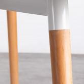 Tavolo da Pranzo Rettangolare in MDF e Legno di Faggio (140x90 cm) Blanc, immagine in miniatura 5
