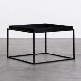 Tavolo Ausiliario Quadrato in Metallo (59x59 cm) Cubo, immagine in miniatura 1
