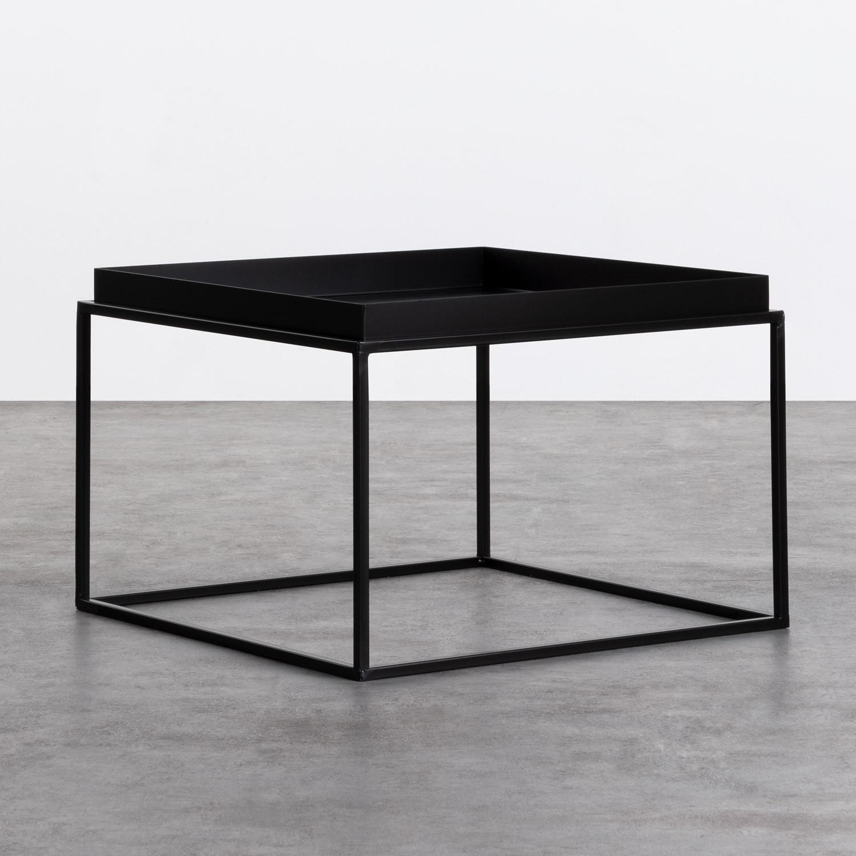 Tavolo Ausiliario Quadrato in Metallo (59x59 cm) Cubo, immagine della galleria 1