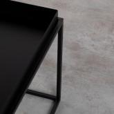 Tavolo Ausiliario Quadrato in Metallo (59x59 cm) Cubo, immagine in miniatura 6