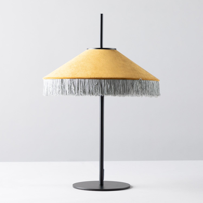 Lampada da Tavolo in Velluto Pendala, immagine della galleria 1