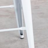 Sgabello Alto in Acciaio Industrial Schienale ( 76 cm), immagine in miniatura 6
