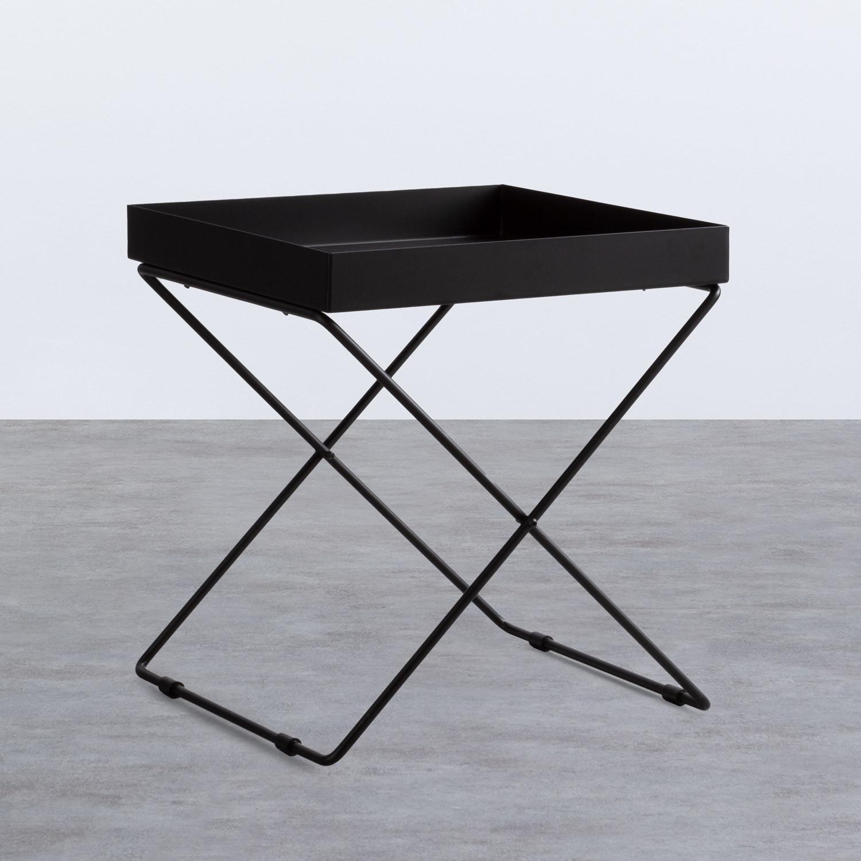 Tavolo Ausiliario Quadrato in Metallo (40x40 cm) Deja, immagine della galleria 1