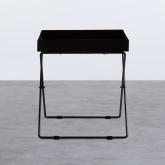 Tavolo Ausiliario Quadrato in Metallo (40x40 cm) Deja, immagine in miniatura 3