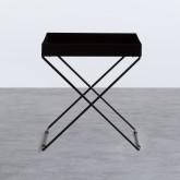 Tavolo Ausiliario Quadrato in Metallo (40x40 cm) Deja, immagine in miniatura 4