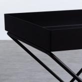 Tavolo Ausiliario Quadrato in Metallo (40x40 cm) Deja, immagine in miniatura 5