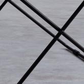 Tavolo Ausiliario Quadrato in Metallo (40x40 cm) Deja, immagine in miniatura 7
