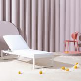 Sdraio Reclinabile in Tessuto e Alluminio Kabir, immagine in miniatura 3