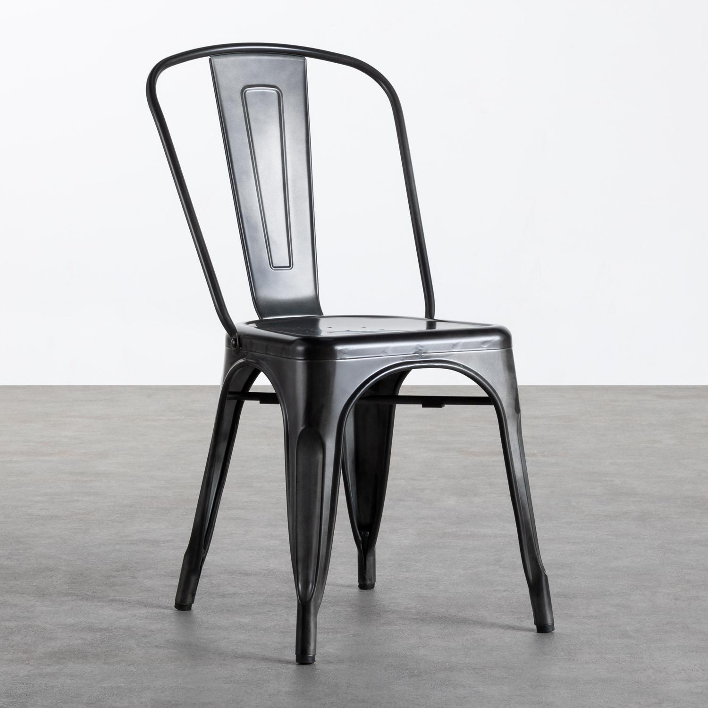 Sedia in Metallo Galvanizado Industrial, immagine della galleria 1