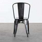 Sedia in Metallo Galvanizado Industrial, immagine in miniatura 5